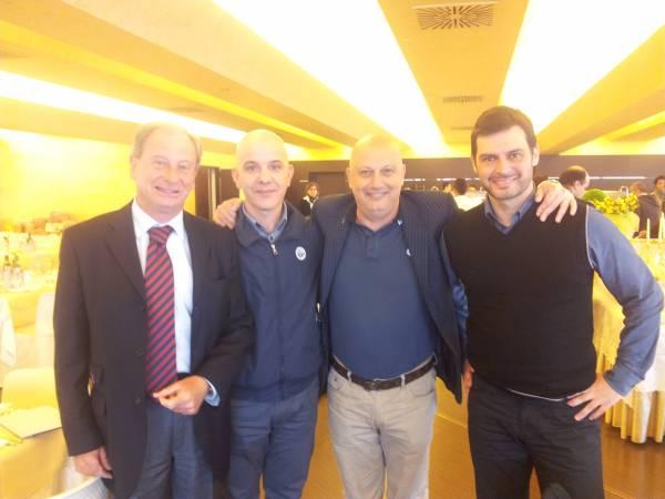 Leone e Paolini con il Presidente CRA Torti e il Vice CRA Crucioli.